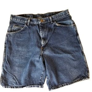 Wrangler 36 Men's Shorts Vintage Blue Denim
